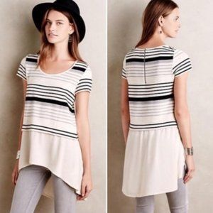 Anthropologie | Deletta Striped High Low Tunic